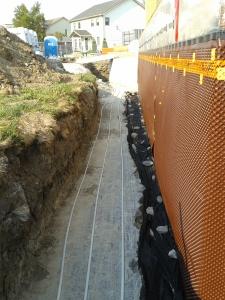 SHX PEX tubes on the bedrock